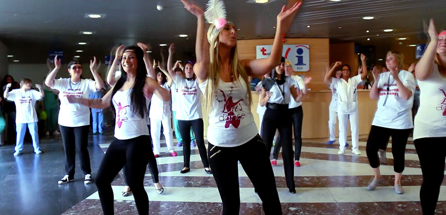 Flashmob : hygiène des mains